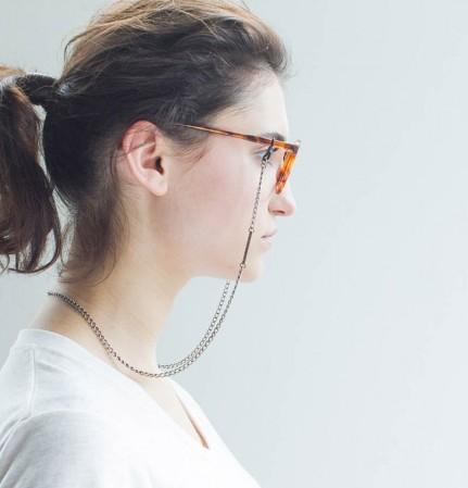 VONERNST Brillenkette Oval Silber