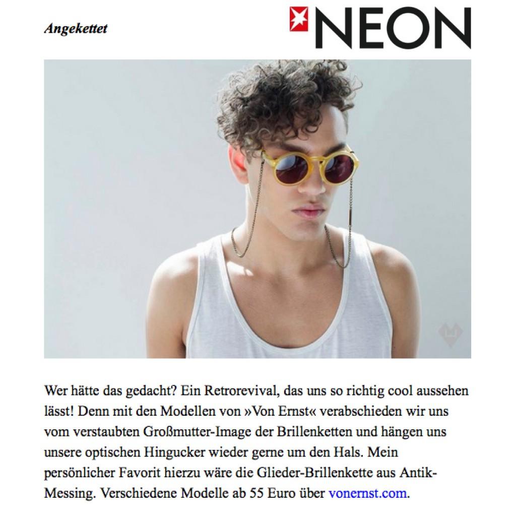 VONERNST Neon Magazin Brillenkette Brillenband