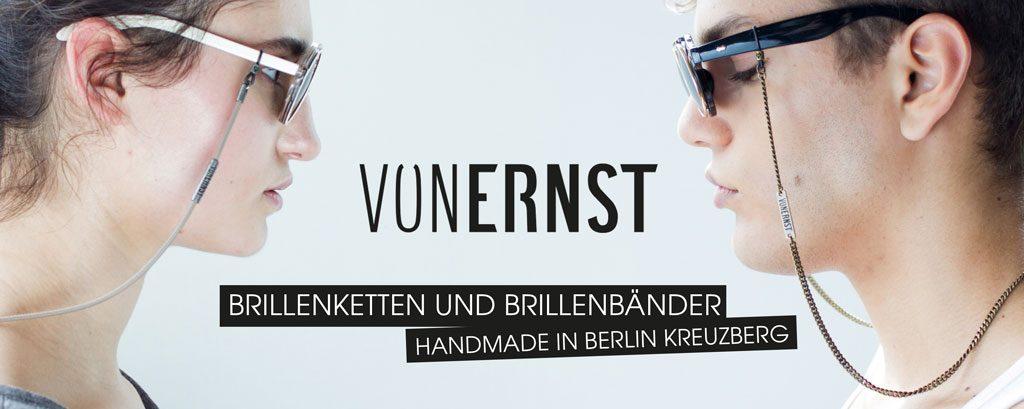 VONERNST Banner Slider Brillenbänder und Brillenketten Handmade in Berlin Kreuzberg