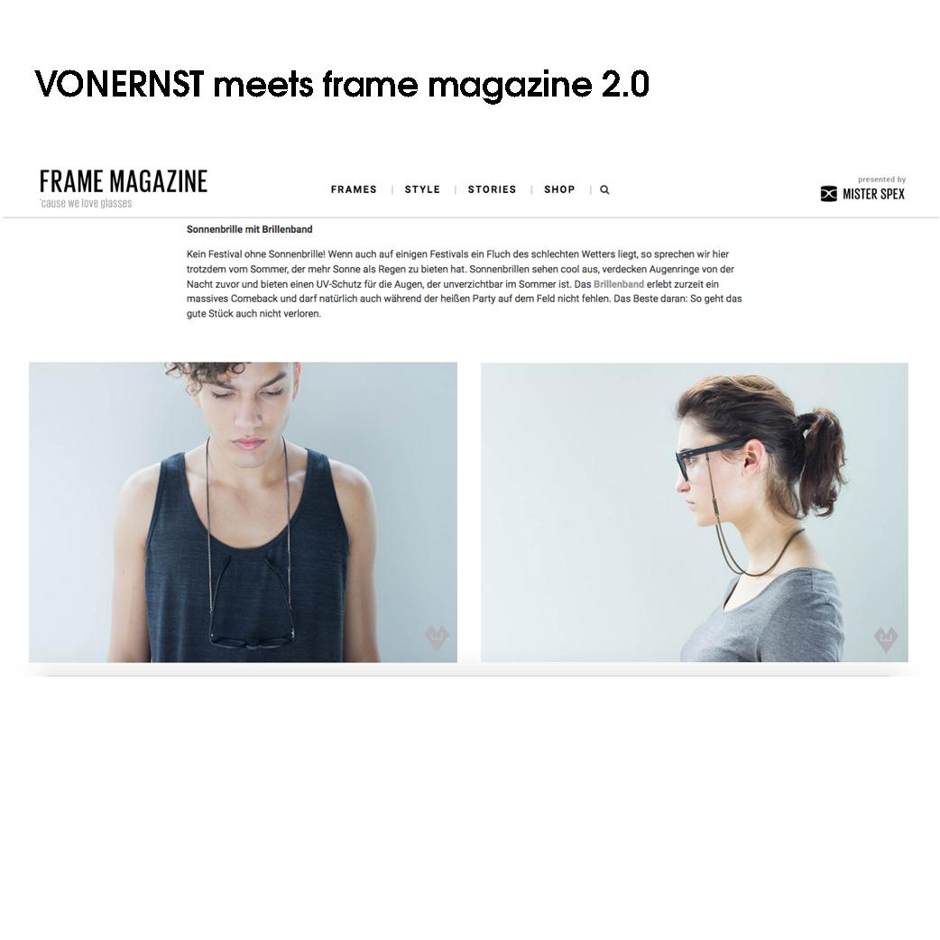 VONERNST Festival essentials im mr. spex frame magazine