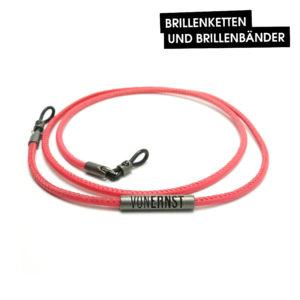 VONERNST Premium-Brillenband Leder Koralle