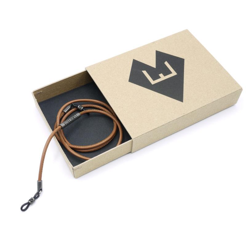 VONERNST Premium-Brillenband Leder mit Verpackung